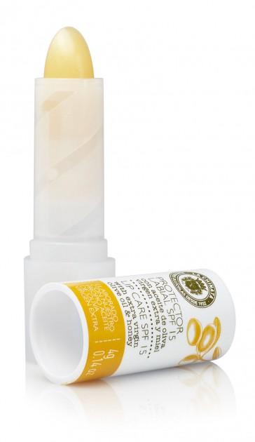 Protector Labial Spf15 Con Aceite De Oliva Virgen Extra Y Miel