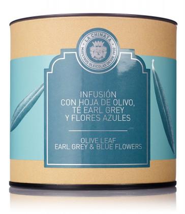 Infusión De Hoja De Olivo, Té Earl Grey Y Flores Azules