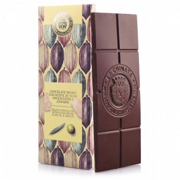 Chocolate Negro Con Aceite De Oliva Virgen Extra Y Jengibre