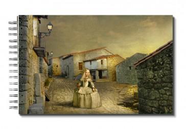 "Libreta "" Menina Por El Mundo"": Europa, España, Extremadura, Cáceres, Sierra De Gata, Trevejo. Plaza."