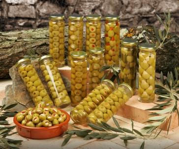 Aceitunas Rellenas A Mano Con Almendra Y Pimiento Natural Asado 150 Ml