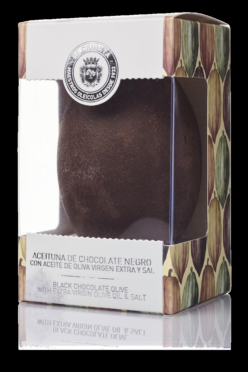 Aceituna De Chocolate Negro Con Sal
