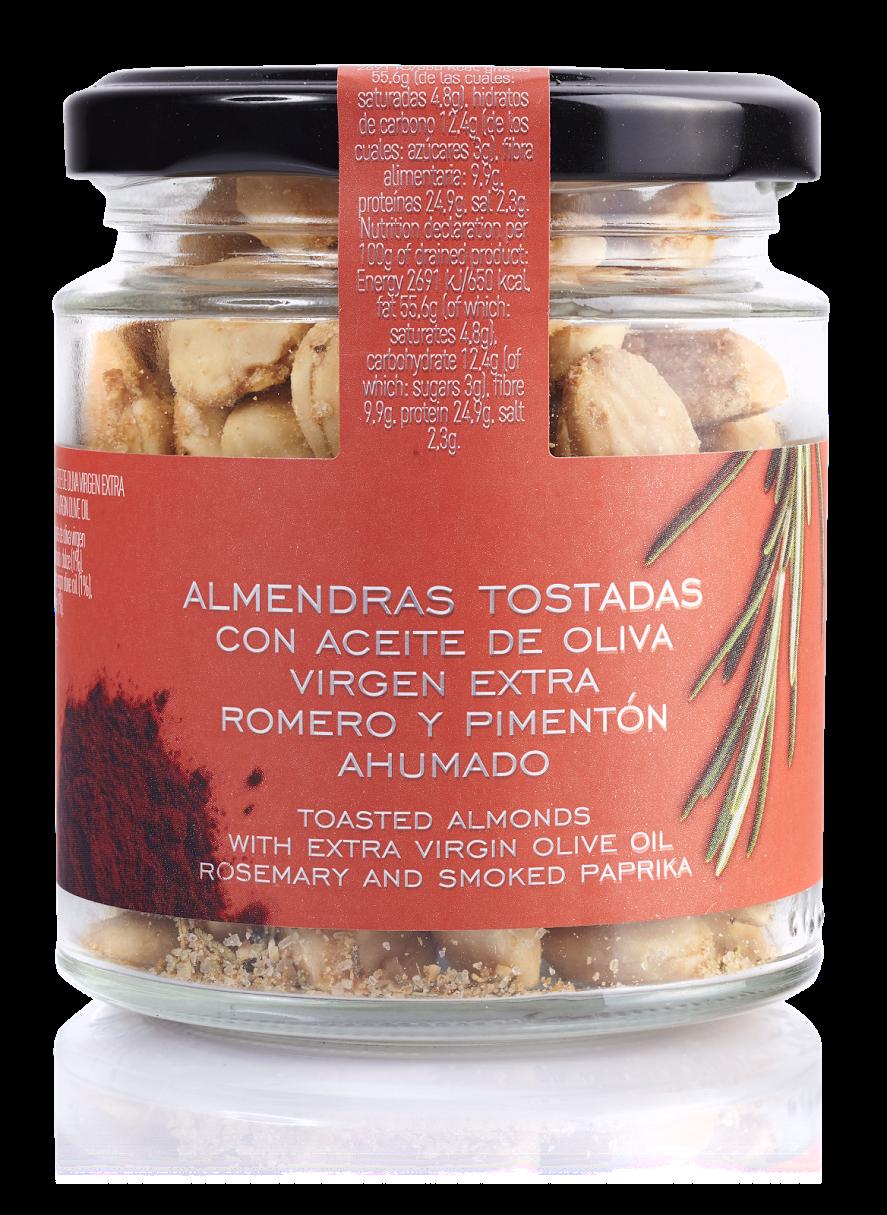 Almendras Tostadas Con Aove Romero Y Pimentón