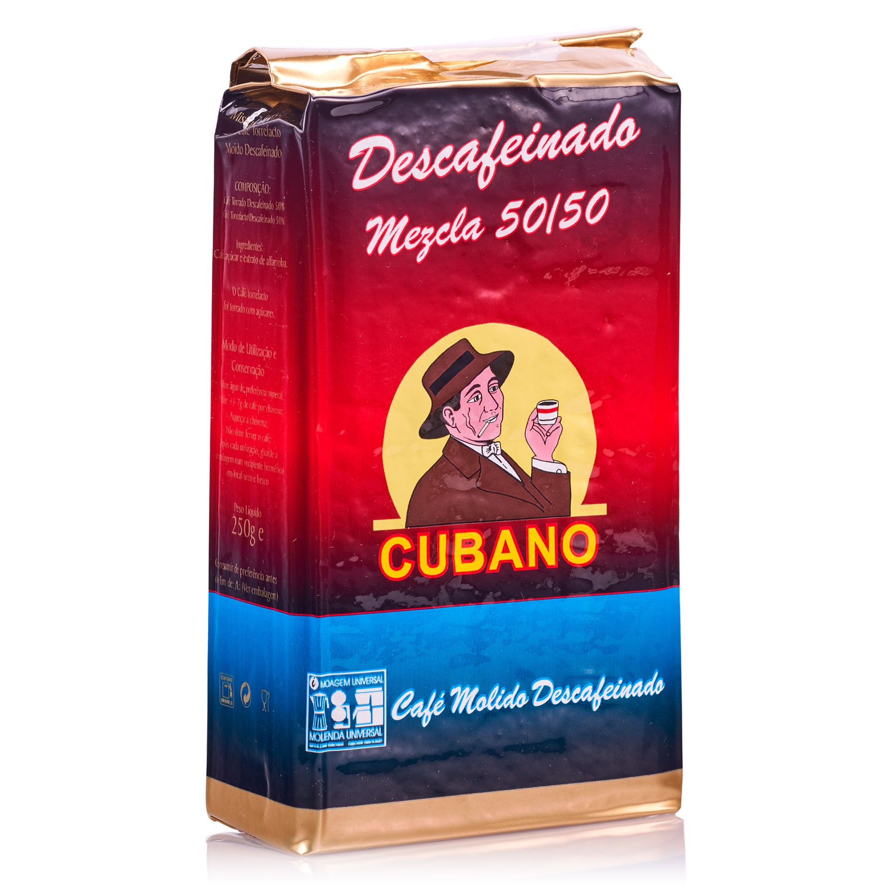 Café Cubano Portugués Descafeinado Molido 250 g mezcla