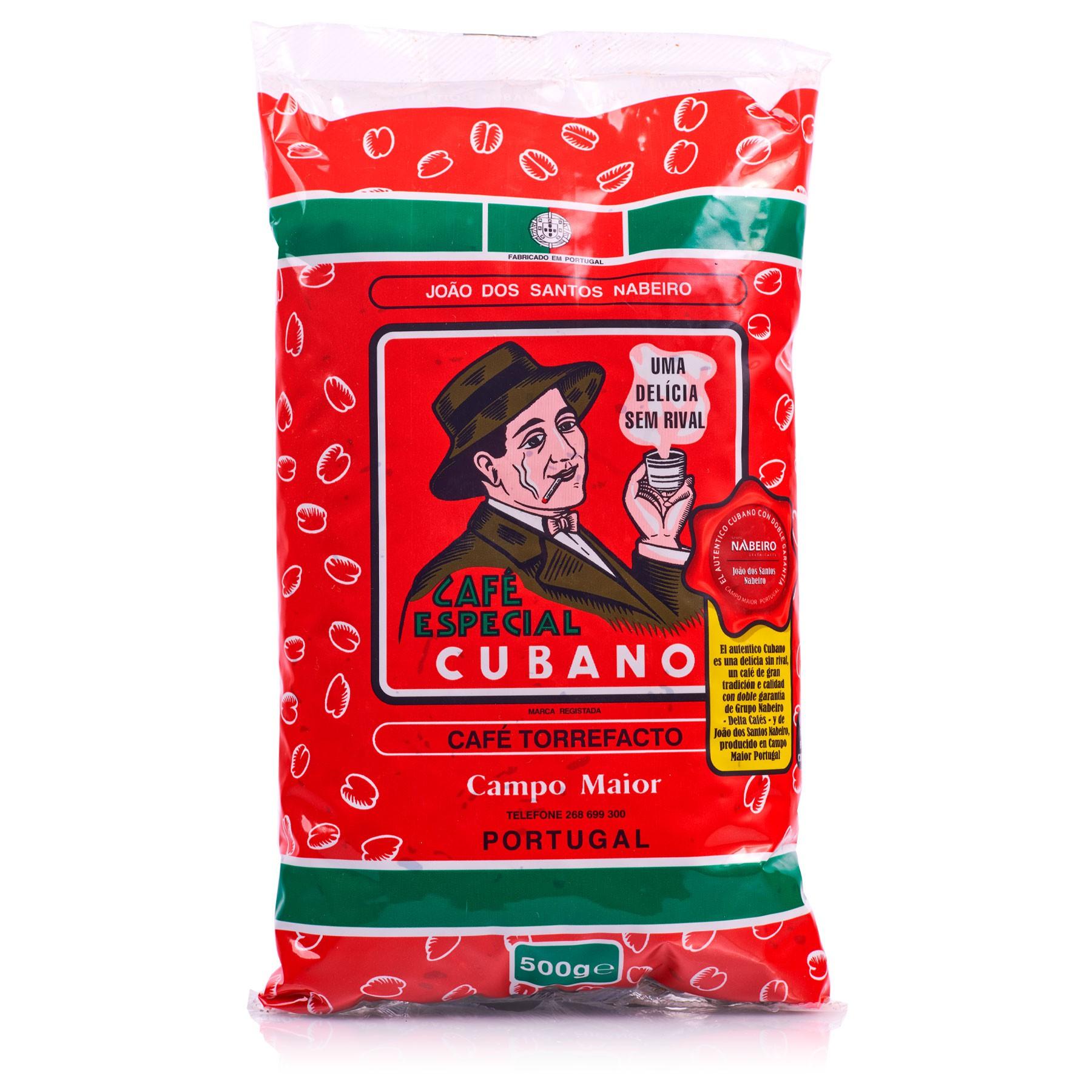Café Cubano Portugués Torrefacto en grano 500 g