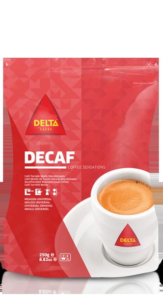 Café Delta Descafeinado Molido 0,25 Kg
