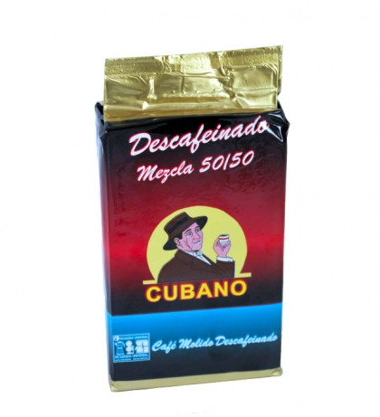 Café Cubano Descafeinado Molido 0,25 Kg