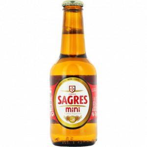 Caja De 24 Cervezas Sagres Mini 25 Cl